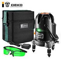 Лазерный уровень DEKO Зеленый луч 5 линий 6 точек