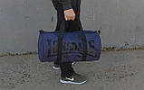 Сумка для спорта Lonsdale London. Для тренировок. Синяя с черным. Под коттон, фото 6