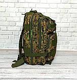Тактичний, похідний рюкзак Military. 25 L. Камуфляжний, піксель, мілітарі. / T412, фото 4