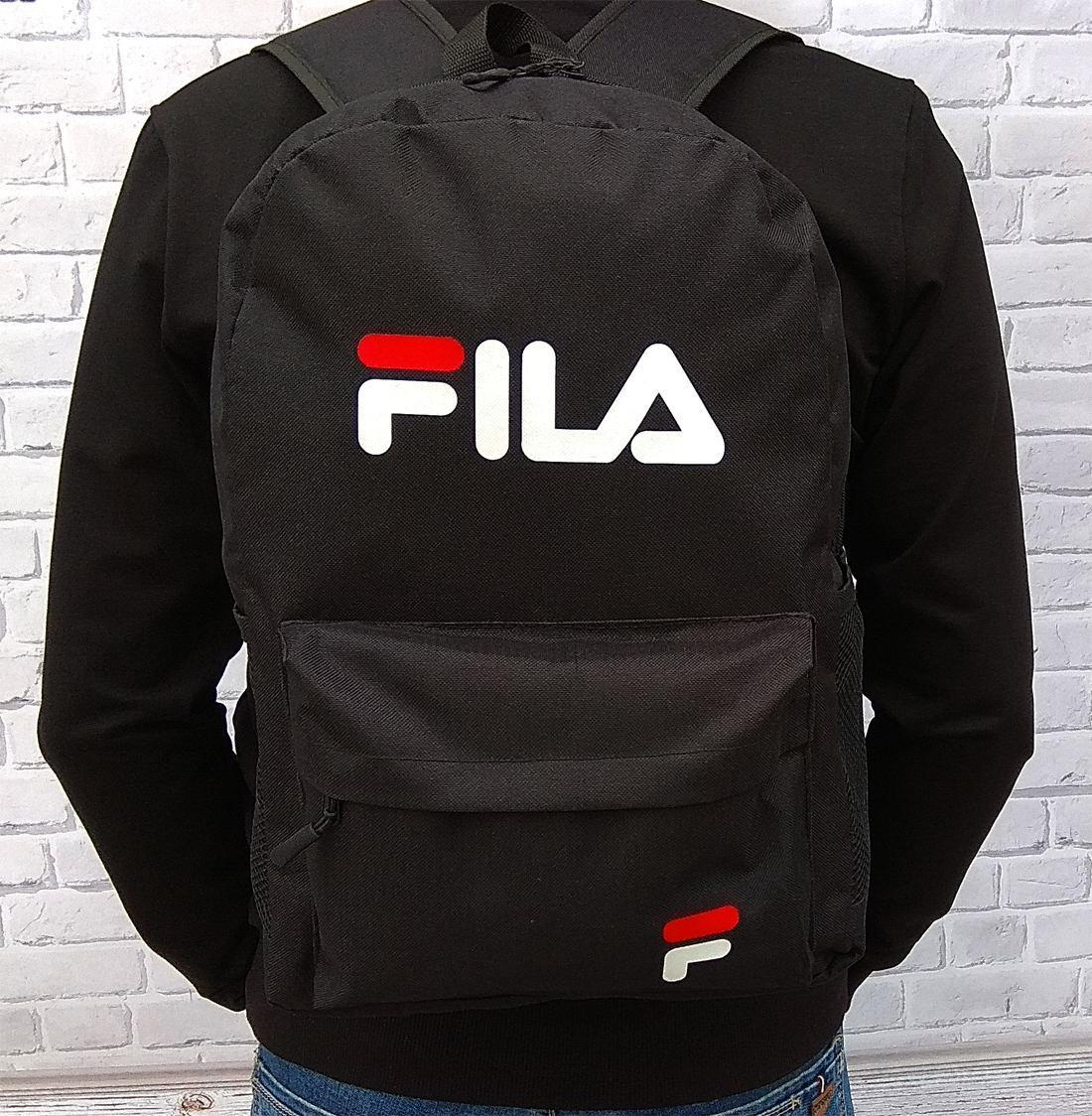ХІТ! Молодіжний місткий рюкзак FILA, філа. Чорний / F 01