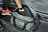 Не промокаемая сумка найк, Nike для спортазала и путешествий. Коттон. Светло-серая, фото 2