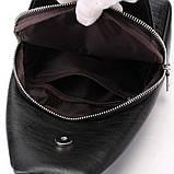 Мужская сумка на одно плечо, слинг Alligator. Черная / 2799, фото 4