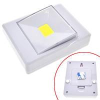LED светильник лампа выключатель на батарейках 3Вт на магните, липучке (FD0654)