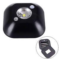 LED светильник лампа с датчиком движения и фоторезистором, черный (FD0656)