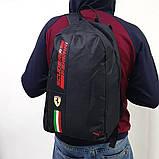 Спортивный, городской рюкзак Puma Scuderia Ferrari, пума. Феррари. Черный, фото 4