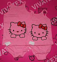 """Майка + труси """"Кітті рожева"""" (кулір) 134-140 зростання"""