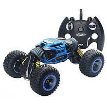 Трюковая машинка перевертыш Hyper Leopard King. Синяя машинка, джип вездеход на радиоуправлении. 34 см