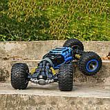 Трюкова машинка перевертиш Hyper Leopard King. Синя машинка, джип всюдихід на радіоуправлінні. 34 см, фото 9
