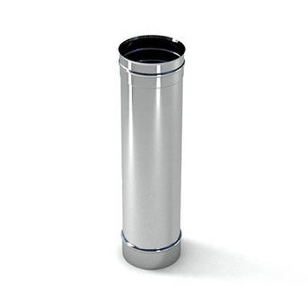 Труба ф 160 1 м 0.5 мм нержавіюча сталь