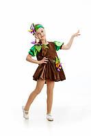 Детский карнавальный костюм для девочки «Картошка» 110-120 см, коричневый, фото 1