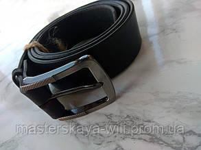 Шкіряний ремінь ручної роботи «Classic» (чорного кольору)