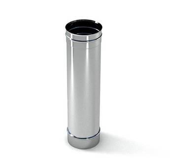 Труба ф 100 1 м  0.5 мм нержавіюча сталь