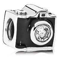 Шарм фотоаппарат из серебра 925 пробы пандора (pandora)