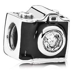 Шарм «Фотоаппарат» из серебра 925 пробы копия Pandora