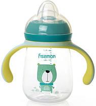 """Бутылочка детская для кормления Fissman Babies """"Мистер Пёс"""" 260мл с ручками"""