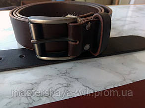 """Кожаный ремень ручной работы, коричневого цвета """"Ковбой"""" (40 см)"""