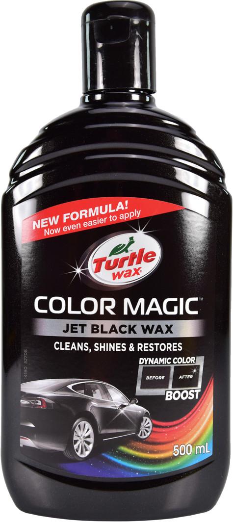 Цветной полироль для кузова Turtle Wax Color Magic Jet Black Wax 500 мл