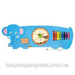"""Настенная игрушка бизиборд Viga Toys """"Слон"""" (50472)"""