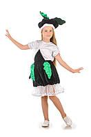 Детский карнавальный костюм для девочки «Редька» 110-120 см, черный, фото 1