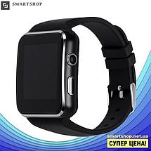 Умные часы Smart Watch X6 black - смарт часы со слотом под SIM карту Чёрные, фото 3