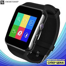 Умные часы Smart Watch X6 black - смарт часы со слотом под SIM карту Чёрные, фото 2