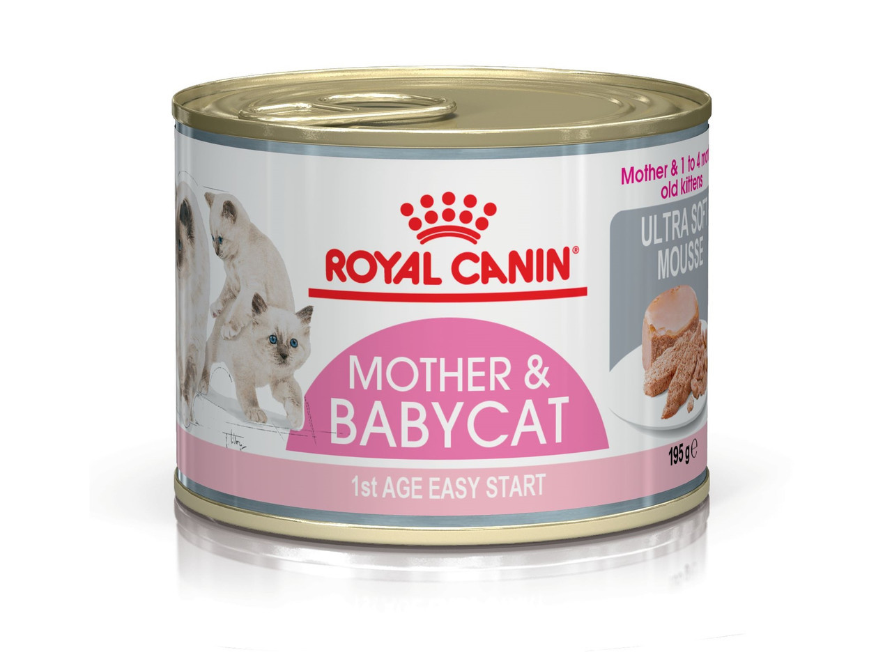 Паштет-мусс Royal Canin Mother & Babycat для котят до 4 месяцев блок 195 г*12 шт.