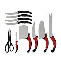 Набор кухонных ножей Contour Pro Knives Черный с красным (hub_np2_0938)
