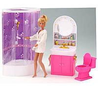 """Мебель для кукол Gloria """"Ванная комната с душевой кабинкой"""" 98020"""