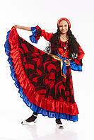 Детский карнавальный костюм для девочки «Цыганка» 130-140 см, красный