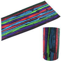 Бафф бандана-трансформер, шарф из микрофибры, цветной забор (FD1363)
