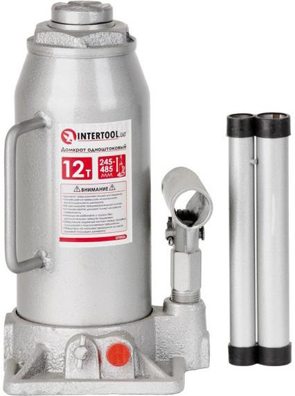 Домкрат Intertool вертикальный (бутылочный) гидравлический 12 т GT0026