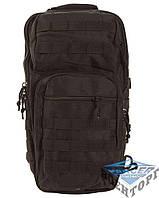 Рюкзак тактичний на одну лямку чорний