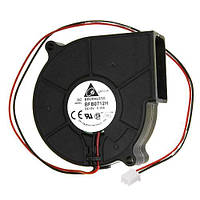 Вентилятор улитка 75мм 12В 2пин центробежный турбина кулер ЧПУ, сервера (FD1644)