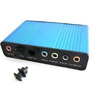 Внешняя USB звуковая карта 5.1 S/PDIF, аппаратная (FD1696)