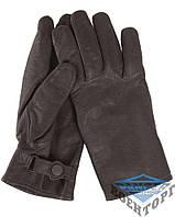 Кожаные перчатки GERMAN LINED GOAT LEATHER GLOVES черные