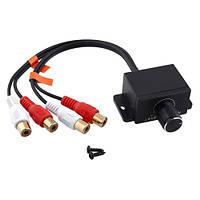 Выносной регулятор аудио баса для усилителя 2 RCA - 2 RCA (FD1736)
