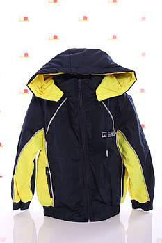 Куртка Кант флис синий с желтым