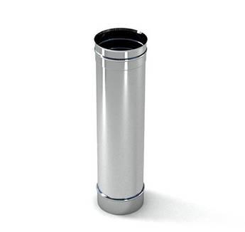 Труба ф 130 1 м 0.5 мм нержавіюча сталь
