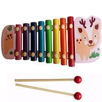 Деревянная игрушка Ксилофон Woki Разноцветный (MD0712R)