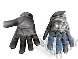 Тактические перчатки MIL-TEC кожа черные