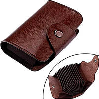 Кредитница картхолдер визитница карточница карманная, кожа (FD2337)