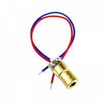 Лазерный диод модуль точка 5мВт 5В красный 650нм (FD2425)