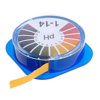 Лакмусовая индикаторная бумага pH тест полоски pH1-14, 5 метров (FD2438)