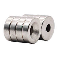 Магниты неодимовые крепежные 10x3мм N50 с отверстием зенковкой 3мм 10шт (FD2489)