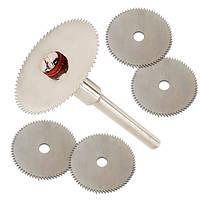 Набор из 5 отрезных кругов, дисковых пил 22мм для дремеля гравера (FD2733)