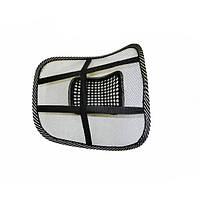 Ортопедическая подушка под спину на кресло Черный с белым (3sm_603842569)