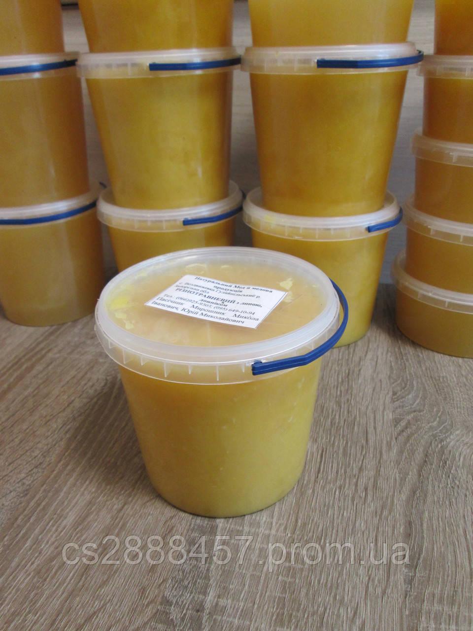 """Мёд """"Разнотравье + Липовый"""" 1,0 л., 100% натуральный мёд / Мед """"Різнотрав`я + Липовий"""" 1,0 л., 100 %  мед"""