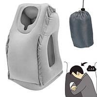 Подушка обнимательная надувная самолетная для путешествий, самолета (FD3210)