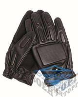 SEC черная кожа боевые перчатки