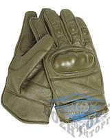 Перчатки TACTICAL GLOVES LEDER OLIV